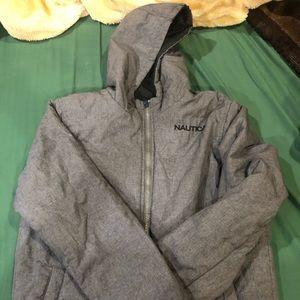 Men's nautica reversible black and Grey jacket